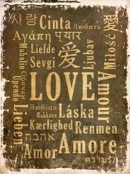 Love in Multiple Languages | Obraz na stenu