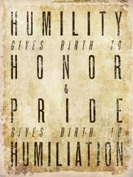 Humility Quote | Obraz na stenu