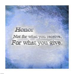 Honor Quote II | Obraz na stenu