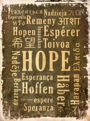 Hope in Multiple Languages | Obraz na stenu