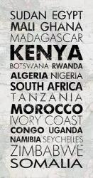 African Countries I | Obraz na stenu