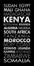 African Countries II | Obraz na stenu