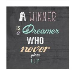 A Winner is a Dreamer Who Never Gives Up - Nelson Mandela Quote | Obraz na stenu