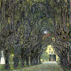 Avenue of Trees in the Park at Schloss Kammer, c.1912 | Obraz na stenu