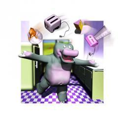 Kitchen Hippo | Obraz na stenu