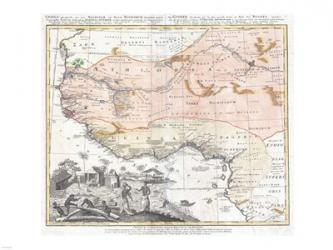 1743 Homann Heirs Map of West Africa | Obraz na stenu