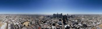 360 degree view of a city, City Of Los Angeles, Los Angeles County, California, USA | Obraz na stenu