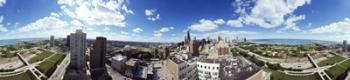 360 degree view of a city, Chicago, Cook County, Illinois, USA | Obraz na stenu