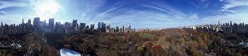 360 degree view of a city, Central Park, Manhattan, New York City, New York State, USA 2009 | Obraz na stenu