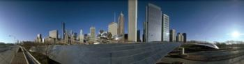 360 degree view of a city, Millennium Park, Jay Pritzker Pavilion, Lake Shore Drive, Chicago, Cook County, Illinois, USA | Obraz na stenu