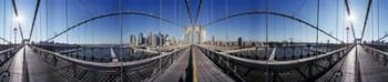 360 degree view of a bridge, Brooklyn Bridge, East River, Brooklyn, New York City, New York State, USA | Obraz na stenu
