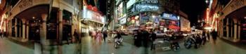 360 degree view of a city at dusk, Broadway, Manhattan, New York City, New York State, USA | Obraz na stenu