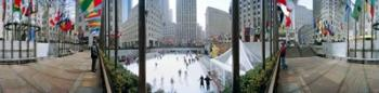 360 degree view of a city, Rockefeller Center, Manhattan, New York City, New York State, USA | Obraz na stenu