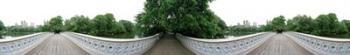 360 degree view of a footbridge in an urban park, Bow Bridge, Central Park, Manhattan, New York City, New York State, USA | Obraz na stenu