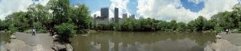 360 degree view of a pond in an urban park, Central Park, Manhattan, New York City, New York State, USA | Obraz na stenu