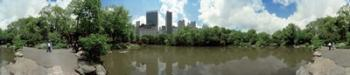 360 degree view of a pond in an urban park, Central Park, Manhattan, New York City, New York State, USA | Obraz na stenu