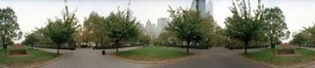360 degree view of a public park, Battery Park, Manhattan, New York City, New York State, USA | Obraz na stenu