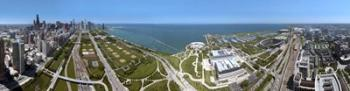 180 degree view of a city, Lake Michigan, Chicago, Cook County, Illinois, USA 2009 | Obraz na stenu