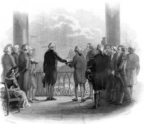 1789 Inauguration Of George Washington As First President Of The USA | Obraz na stenu