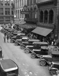 1936 Line Of Angle Parked Cars Downtown Main Street Knoxville Tennessee | Obraz na stenu