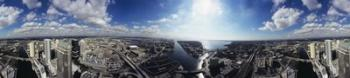 360 degree view of a city, Tampa, Hillsborough County, Florida, USA | Obraz na stenu