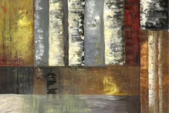 Abstracted Birches I | Obraz na stenu