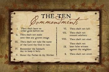 10 Commandments II | Obraz na stenu