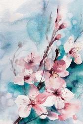 Aqua Blossoms | Obraz na stenu