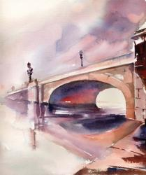 Bridge Over Troubled Watercolor | Obraz na stenu