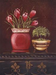 Asian Red Crocus Floral | Obraz na stenu