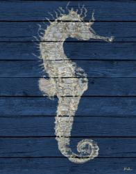 Antique Seahorse on Blue I | Obraz na stenu