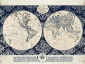 Blue Map of the World | Obraz na stenu