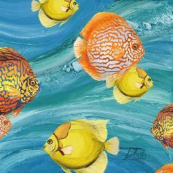 Aquatic Sea Life I | Obraz na stenu