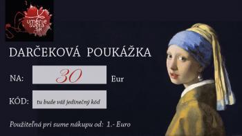 Darčeková poukážka na 30 Eur